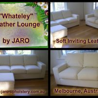 Whateley White Leather Lounge Suite, By JARO Upholstery Melbourne
