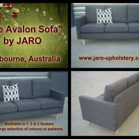 The Avalon Modern 3 Seater Sofa by JARO Upholstery, Melbourne