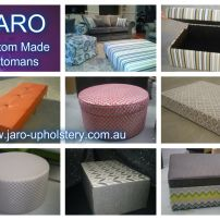 JARO OTTOMANS - Round,Square, Rectangle, Pillow/Mock Top, Diamond Tufted/Buttoned, Storage, Leather
