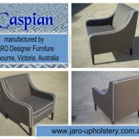 The Caspian Modern Arm Chair custom made by JARO Upholstery, Pakenham, Melbourne