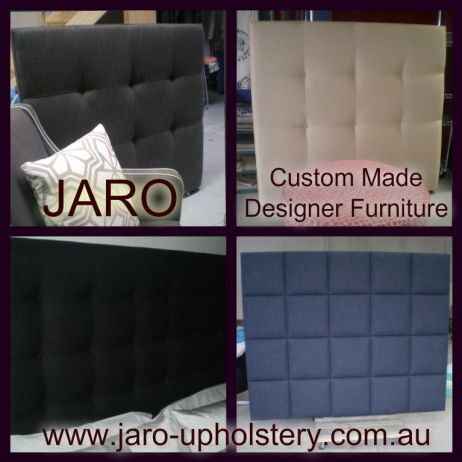 Custom Made Bed Heads, Head Boards and Bases available at JARO Upholstery, Pakenham, Melbourne