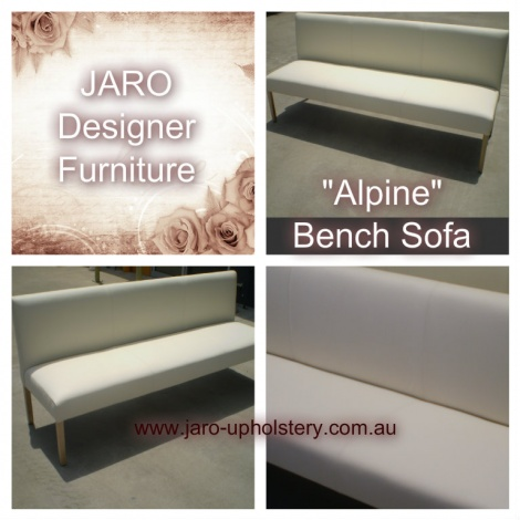"JARO's ""Alpine"" Boutique Leather Bench Sofa ideal for the dining room, foyer, lounge & small spaces!"