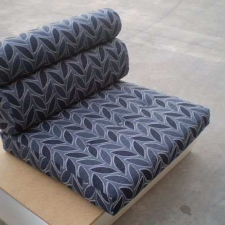JARO upholstery can manufacture round shape and buttoned caravan seat backs.