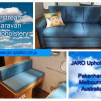 Airstream Caravan seats reupholstered by JARO in Pakenham Melbourne