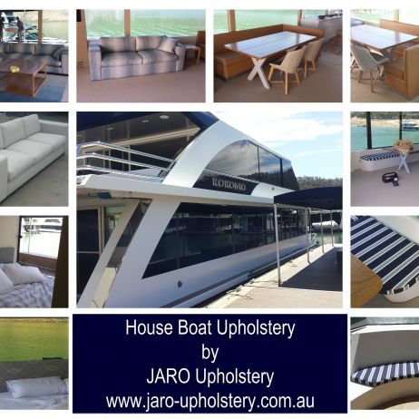 House Boat custom made furniture by JARO Upholstery - sofas, banquettes, bed heads and seat cushions