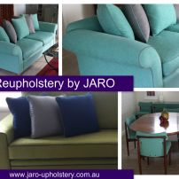 Sofa Reupholstery with contrast piping.