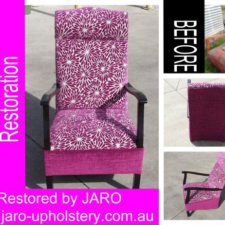 Antique Rocking Chair Restoration - Reupholstery by JARO Upholstery, Melbourne
