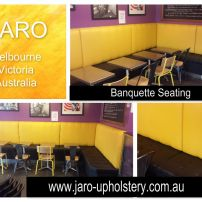 New covers for Banquette seats at LaTrobe University