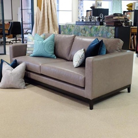 A sofa made up in Tasman Coronet Grey. Looks absolutely stunning!