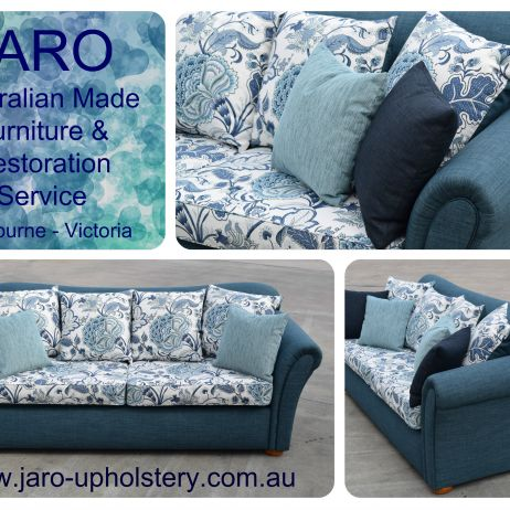 Sofa with colour co-ordinated cover