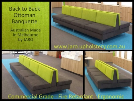 Banquette Seat - Long Back to Back by JARO, Melbourne