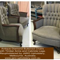 Antique Diamond Buttoned Arm Chair Restoration