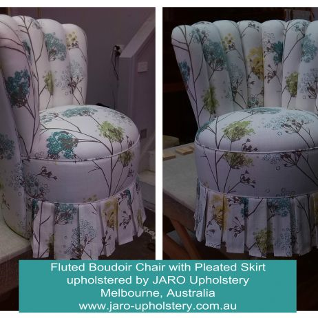 Boudoir Bedroom Chair with Pleated Skirt