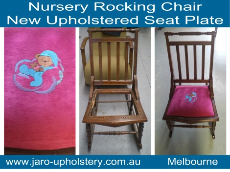 Antique Rocking Chair Restoration - Reupholstery by JARO Upholstery, South East Melbourne