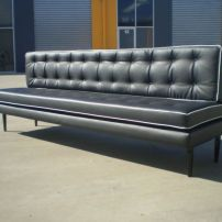 STUDIO RETRO STYLE BANQUETTE CUSTOM MADE IN SOUTH EAST MELBOURNE