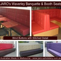 Restaurant & Cafe Seating custom made in South East Melbourne