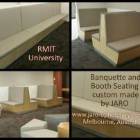 Back to Back Restaurant Booth Seating custom made in South East Melbourne