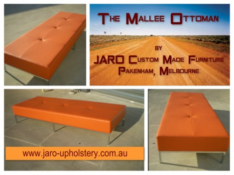 Foyer Ottoman Seats custom made in many shapes, sizes & covering inc Curves, Snake & Puzzle Ottomans