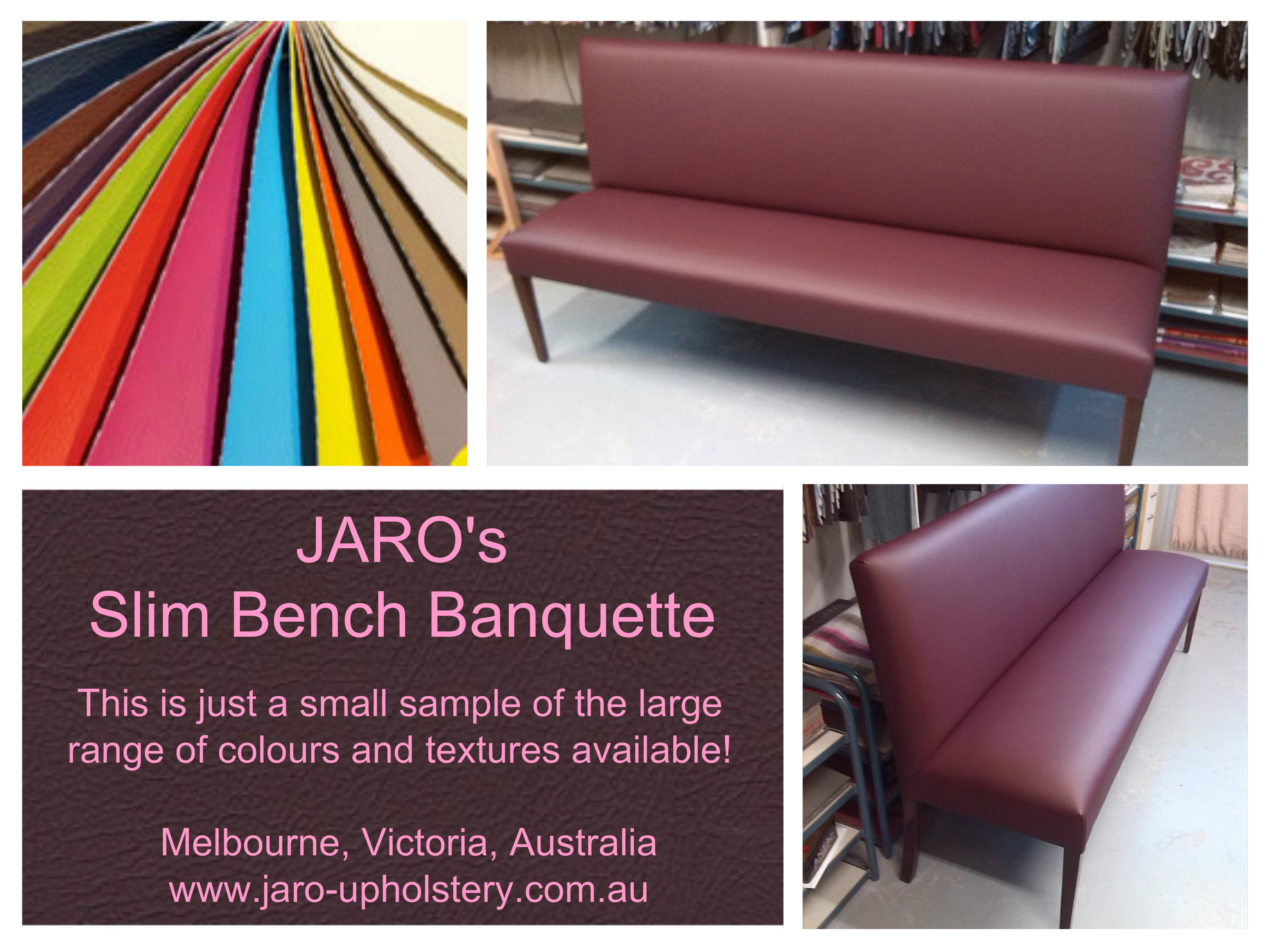 Slim Sleek Bench Sofa Seats Great For Those Small Rooms