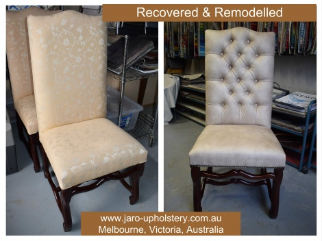 Dining Chairs - New covers and remodelling.