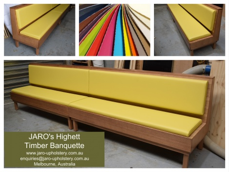 JARO's Highett Timber Banquette, Made in Melbourne Australia