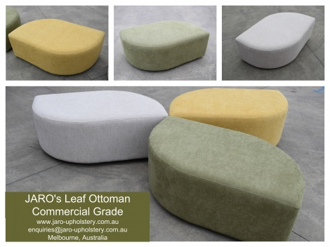 Commercial Grade Leaf Ottoman manufactured in Melbourne by JARO