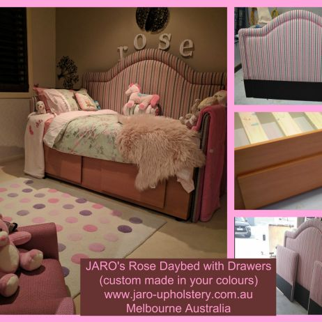 Rose Daybed.  You have the idea!  We bring it to life! Made in Melbourne by JARO.