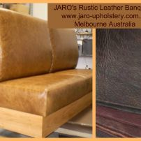 JARO's Rustic Leather Banquette Seat