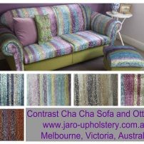 Love Velvet!  This Sofa and Ottoman covered in Cha Cha Velvet.