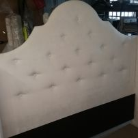 Custom Made White Bedhead and Base with Drawers