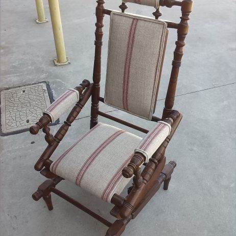 Antique Rocking Chair Reupholstery - We love restoring antique and vintage chairs!