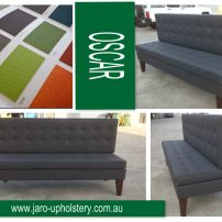 JARO's Oscar Bench Blind Buttoned Banquette on Legs