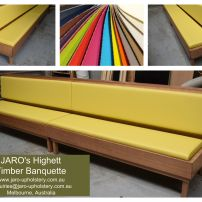JARO's Timber Banquette Seat with Upholstered Seats & Backs Melbourne