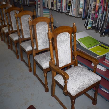 Dining Chair Reupholstery, Restoration, Repair, Repad, Respring, Reweb, Reglue and Recovery Service.