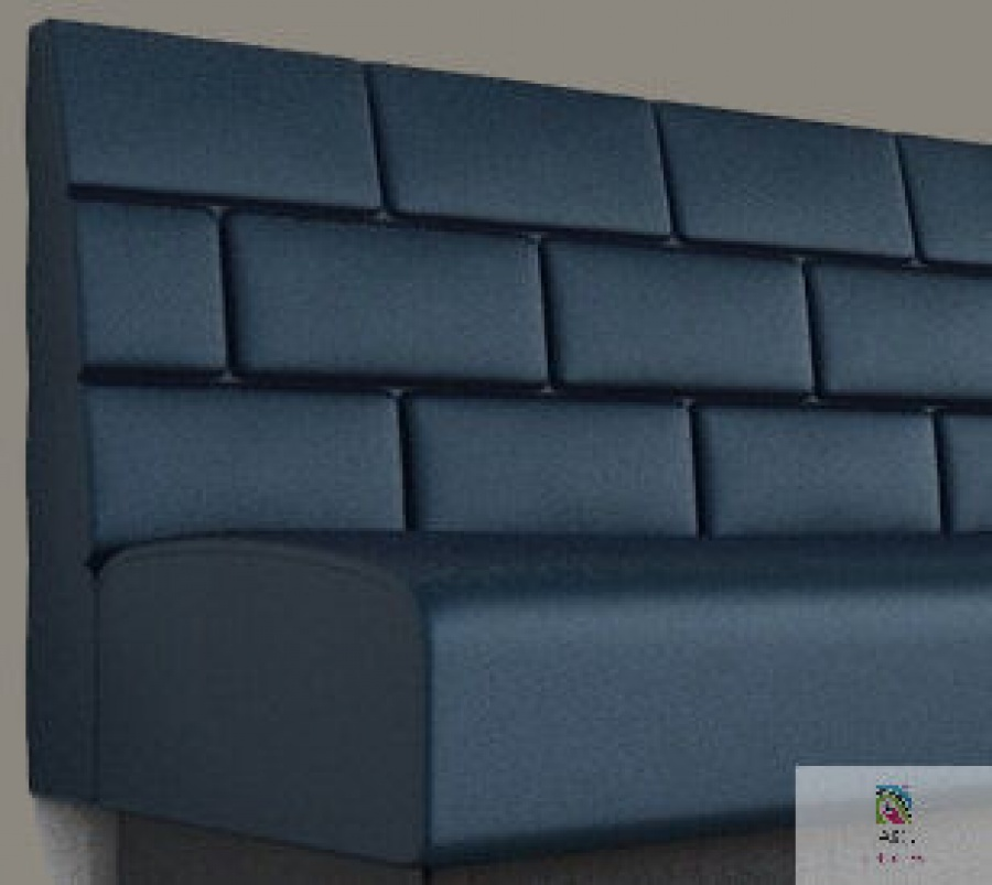 Brick Banquettes Manufactured By JARO Upholstery