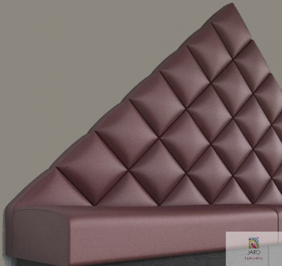 Diamond & Triangled Paneled Banquette & Booth Seating Is