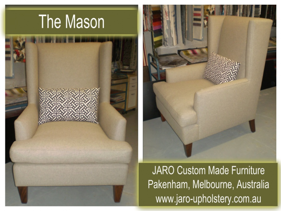 Jaro S Modern Mason Arm Chair With Wings Melbourne