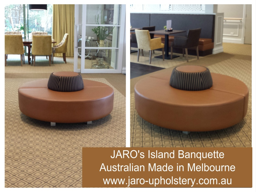 Jaro S Island Circular Foyer Banquette Seat Melbourne Upholstery