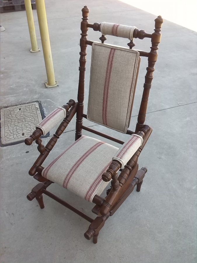 We love to bring these beautiful old chairs back to life. If you have an  old favorite whether it be antique, vintage or a traditional chair we can  help you ... - Antique Rocking Chair Reupholstery - We Love Restoring Antique And