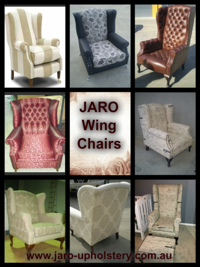 Jaro S Custom Made Wing Chairs Melbourne Upholstery