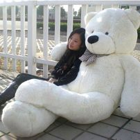 2M Giant Teddy Bear (White)