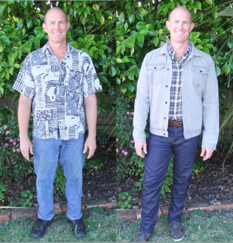 Male Client's Testimonial and Before / After Photos