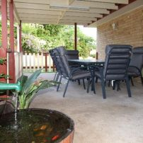 Concrete Pergola With Timber Picket Handrails