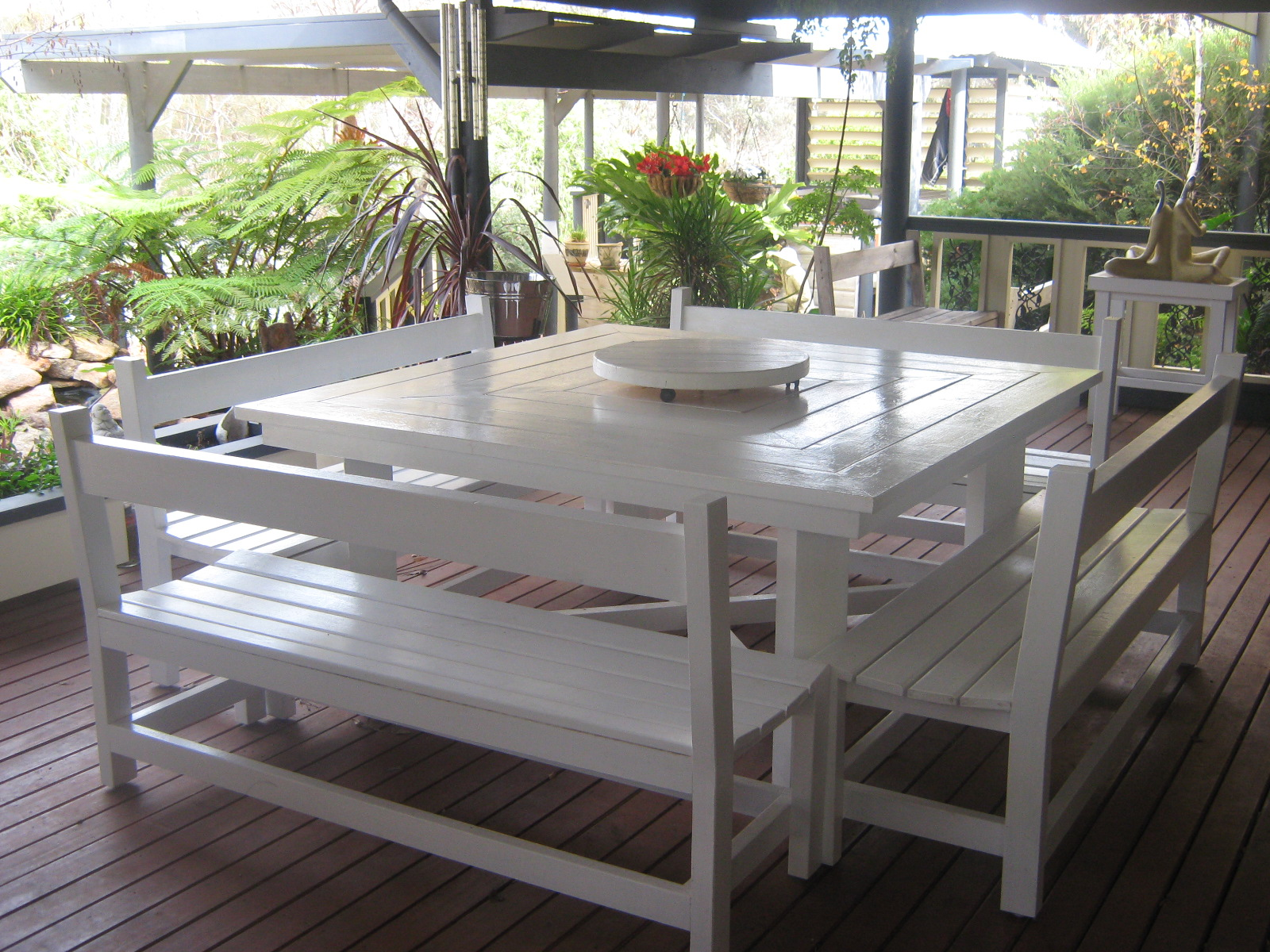Picture of: Outdoor Table With Bench Seats Kamelot Constructions