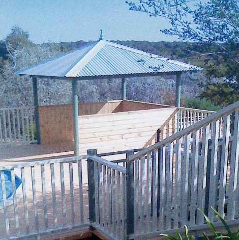 Pool fence and gazebo