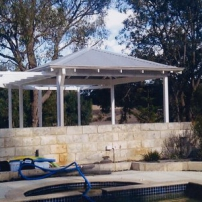 Square Gazebo with Pergola