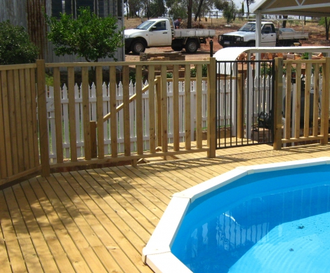 Pool fence and gate