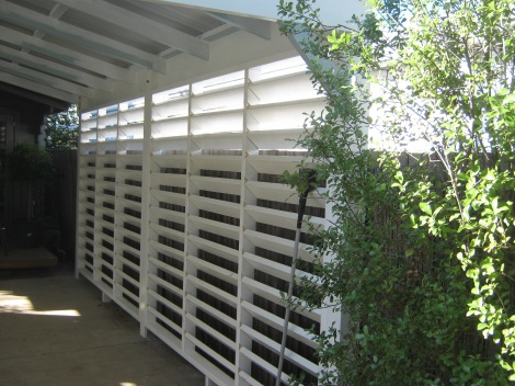 Louvres from the inside.