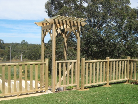Arbor and Balustrade