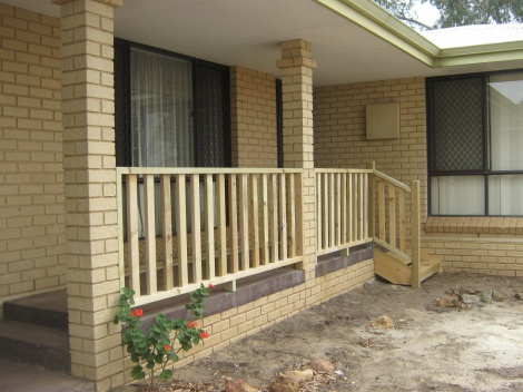 Balustrade on Front Verandah